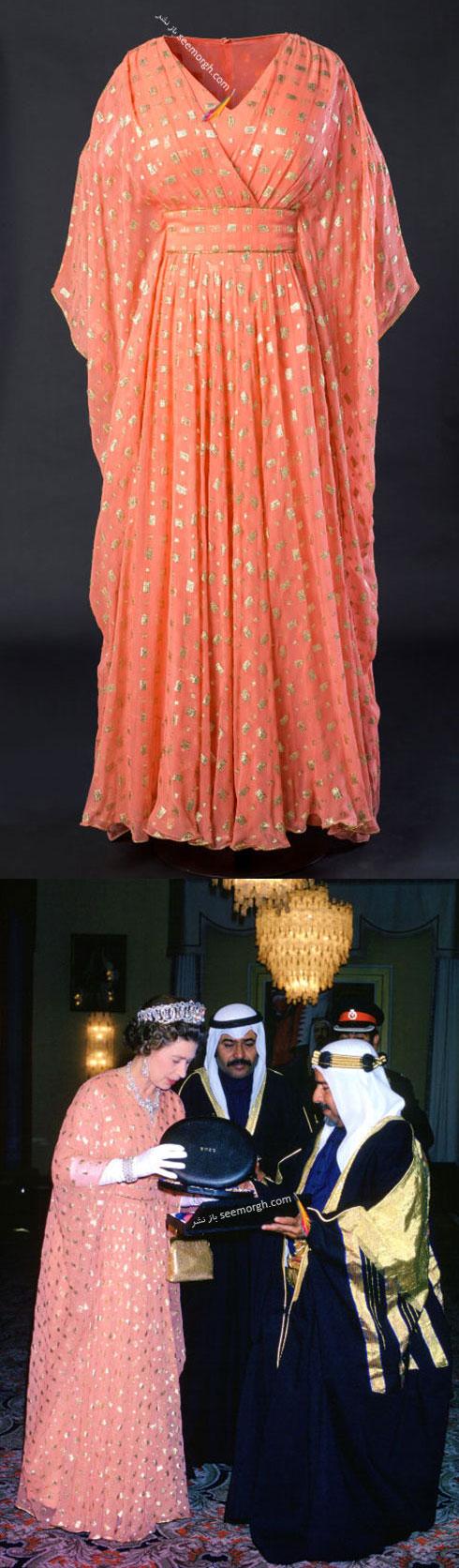 لباس ملکه الیزایت از کمپانی هاردی آمیس Hardy Amies