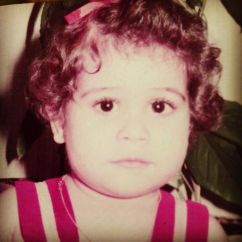 چهره بامزه رز رضوی در کودکی! عکس