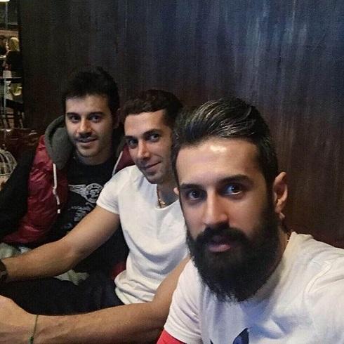 عکس سعید معروف و آرمین تشکری در سفره خانه