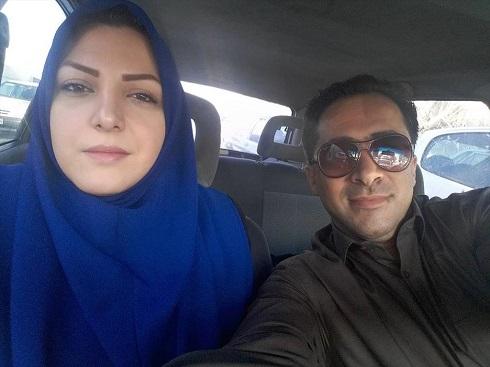 عکس سلفی مجری ورزشی و همسرش در ترافیک