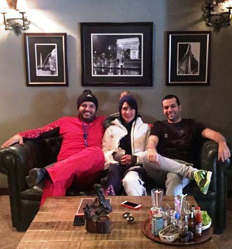 عکس جدید سام درخشانی به همراه همسرش