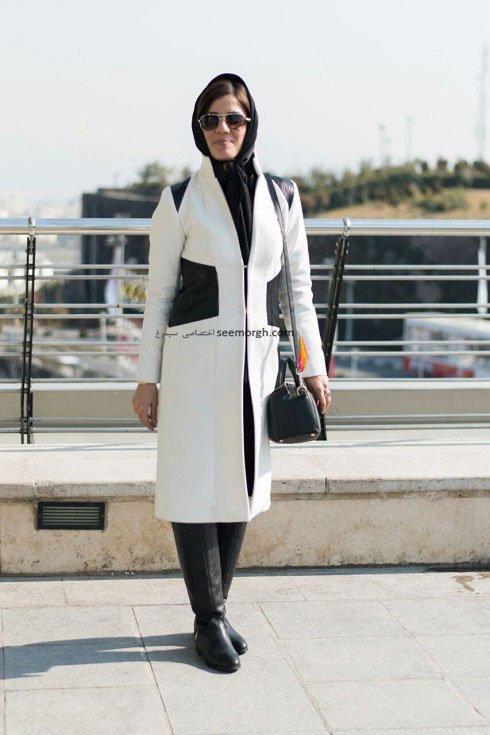 مدل لباس سارا بهرامی در دهمین روز سی و چهارمین جشنواره فیلم فجر