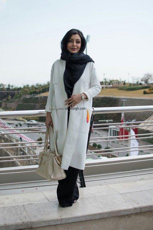 مدل لباس ساره بیات در نهمین روز سی و چهارمین جشنواره فیلم فجر