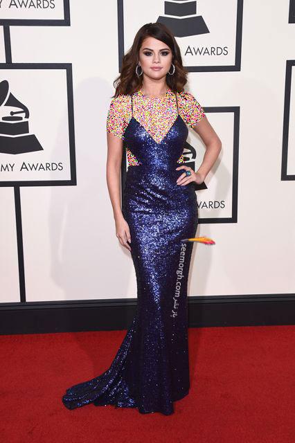 مدل لباس سلنا گومز Selena Gomez در جوایز گرمی Grammy 2016