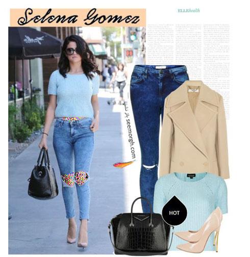 ست کردن شلوار جین به سبک سلنا گومز Selena Gomez - ست شماره 2