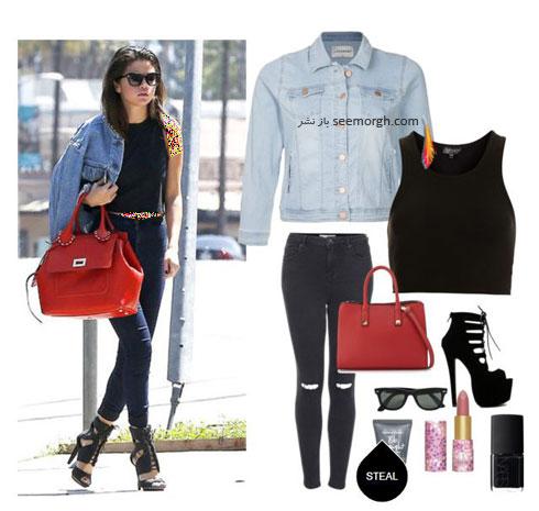 ست کردن شلوار جین به سبک سلنا گومز Selena Gomez - ست شماره 3