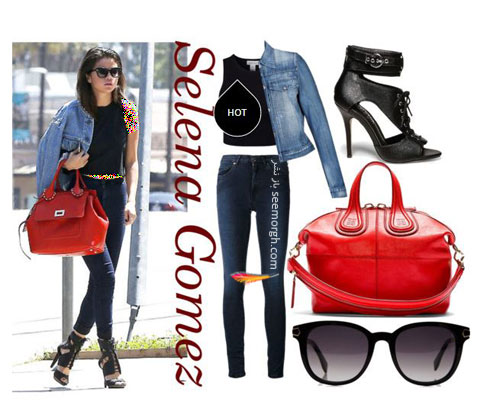 ست کردن شلوار جین به سبک سلنا گومز Selena Gomez - ست شماره 5