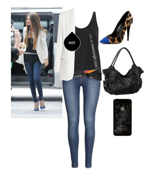 ست کردن شلوار جین به سبک سلنا گومز Selena Gomez - ست شماره 6