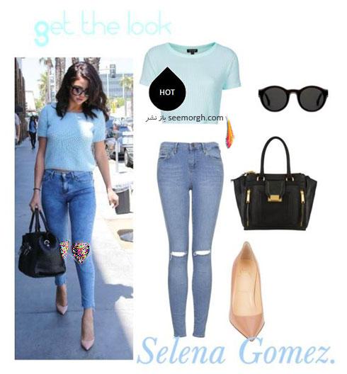 ست کردن شلوار جین به سبک سلنا گومز Selena Gomez - ست شماره 7