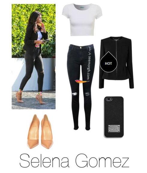 ست کردن شلوار جین به سبک سلنا گومز Selena Gomez - ست شماره 9