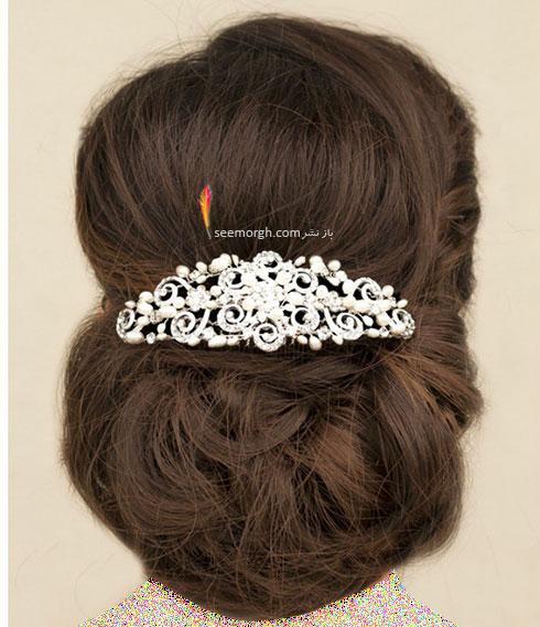 مدل مو عروس به سبک عروس های اروپایی - مدل مو عروس شماره 2
