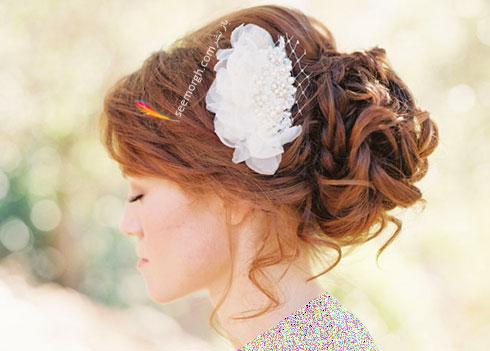 مدل مو عروس به سبک عروس های اروپایی - مدل مو عروس شماره 3