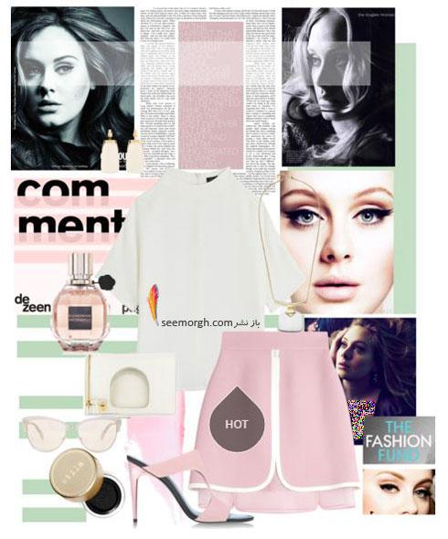 ست کردن لباس بهاری به سبک ادل Adele - ست لباس شماره 1