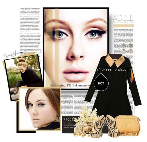 ست کردن لباس بهاری به سبک ادل Adele - ست لباس شماره 4