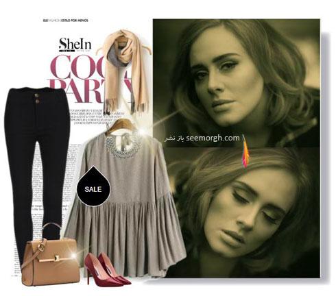 ست کردن لباس بهاری به سبک ادل Adele - ست لباس شماره 7