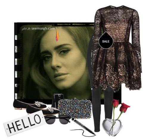 ست کردن لباس بهاری به سبک ادل Adele - ست لباس شماره 8