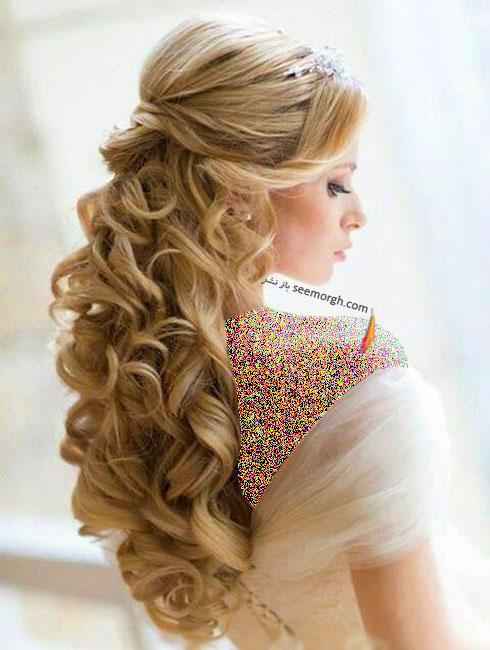 مدل مو عروس به سبک عروس های اروپایی - مدل مو عروس شماره 4