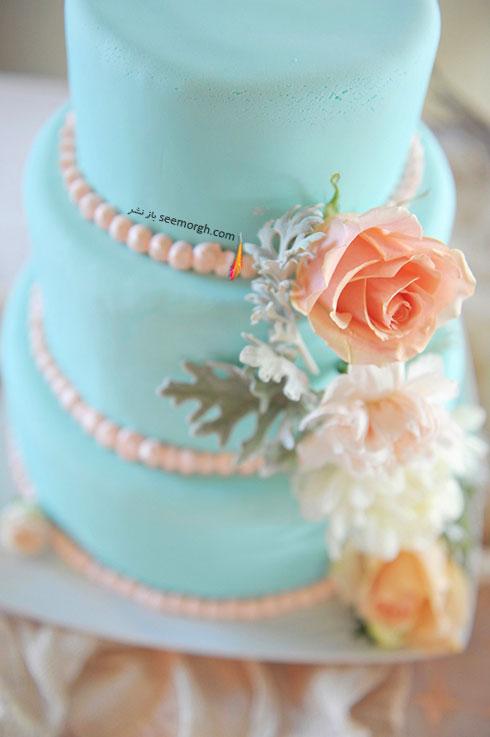 کیک عروسی به رنگ سال 2016 - مدل شماره 4