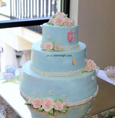 کیک عروسی به رنگ سال 2016 - مدل شماره 5