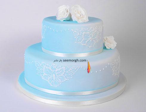 کیک عروسی به رنگ سال 2016 - مدل شماره 6