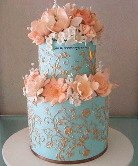 کیک عروسی به رنگ سال 2016 - مدل شماره 7