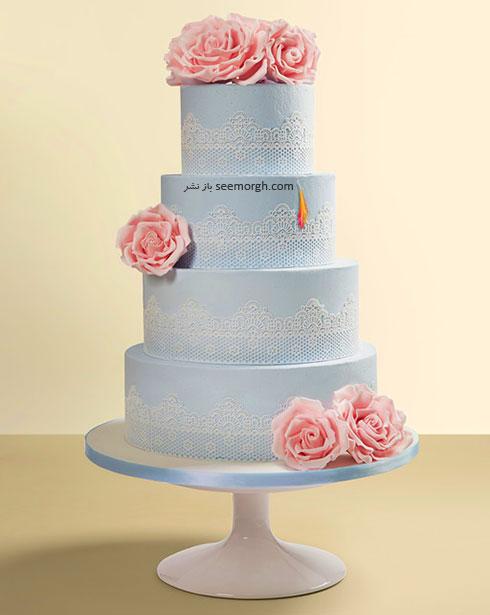 کیک عروسی به رنگ سال 2016 - مدل شماره 9