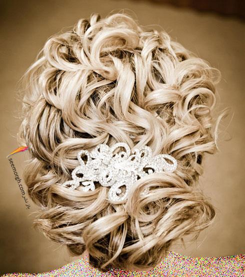 مدل مو عروس به سبک عروس های اروپایی - مدل مو عروس شماره 9