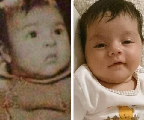 عکس کودکی زیبا بروفه و برادرزاده اش