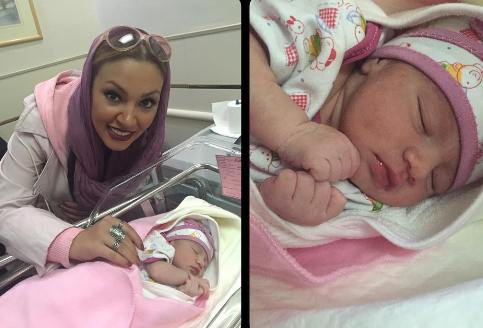 عکس زیبا بروفه در بیمارستان در کنار برادرزاده یک روزه اش!