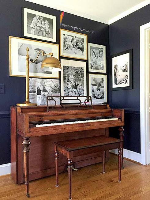 اتاق نشیمن تان را با ترکیب سورمه ای قهوه ای زیباتر کنید