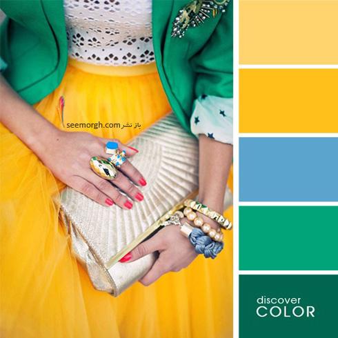 ست کردن لباس با رنگ های تند در تابستان - ست شماره 1