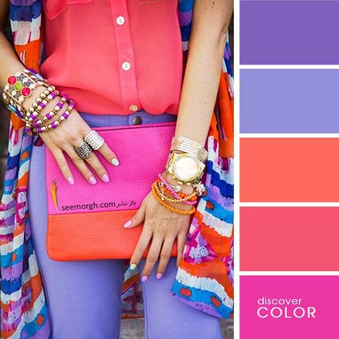 ست کردن لباس با رنگ های تند در تابستان - ست شماره 2