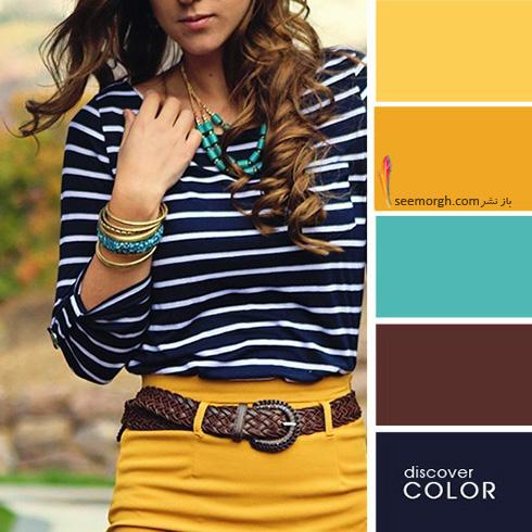 ست کردن لباس با رنگ های تند در تابستان - ست شماره 7