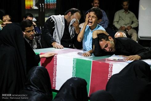 مراسم وداع با دو شهید مدافع حرم
