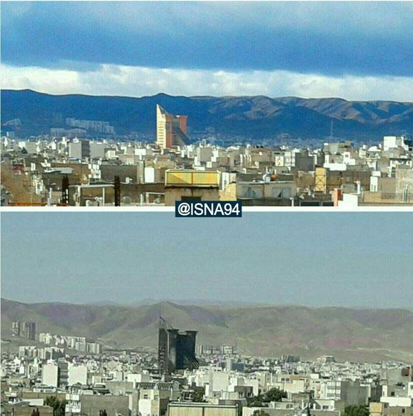 برج سلمان مشهد قبل و بعد از آتش سوزی