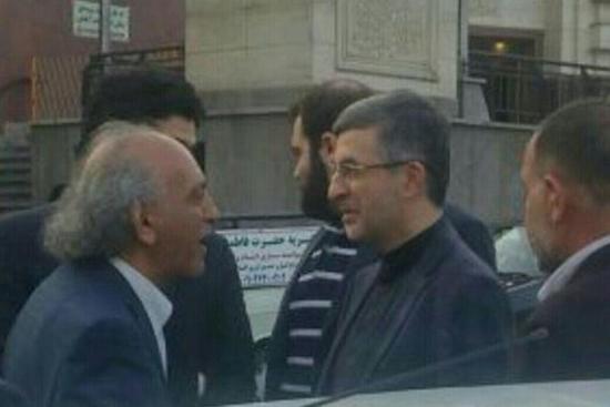 """رحیم مشایی در مراسم ترحیم بانو """"الحاجیه شعر دوست"""""""