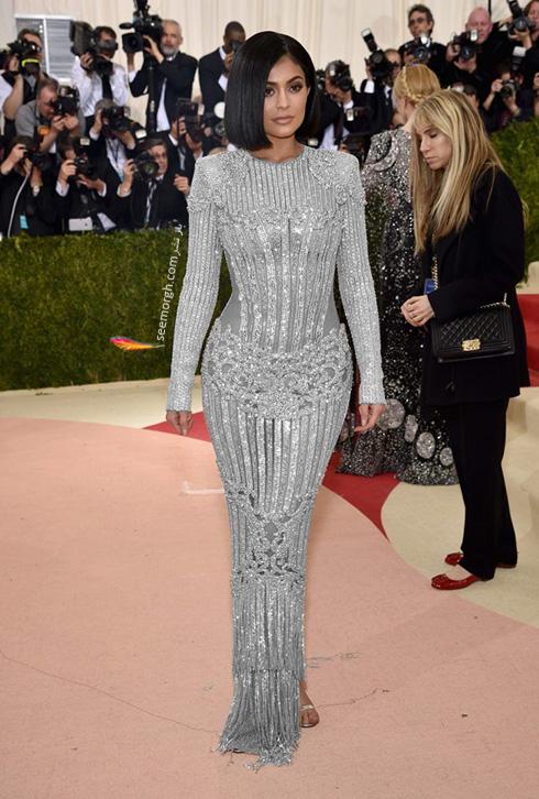 مدل لباس کیلی جنر Kylie Jenner در مراسم مت گالا Met Gala 2016