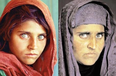 دختر افغانی که با یک عکس به شهرت رسید