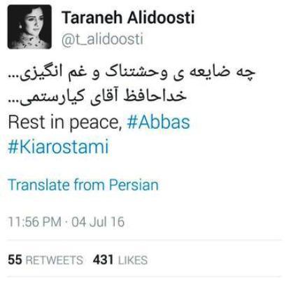 متن ترانه علیدوستی بخاطر درگذشت عباس کیارستمی