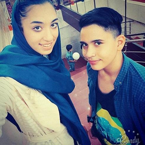 عکس کیمیا علیزاده در کنار برادرش