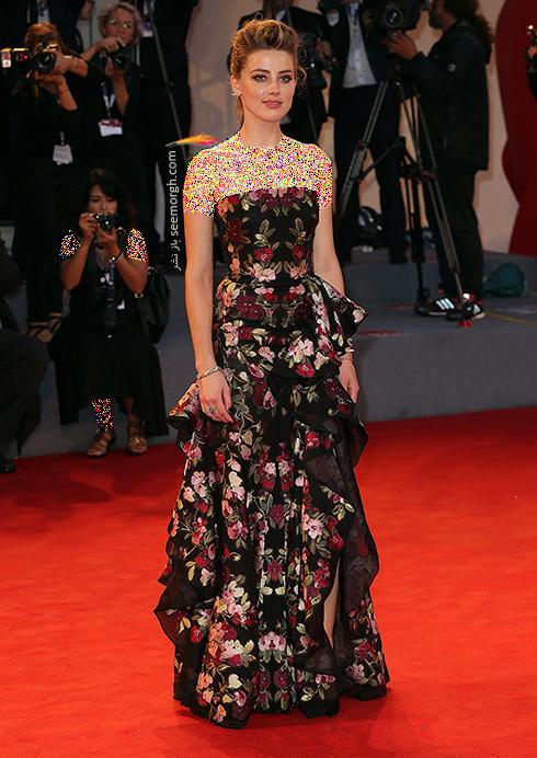 مدل لباس آمبر هرد Amber Heard در جشنواره فیلم ونیز 2016