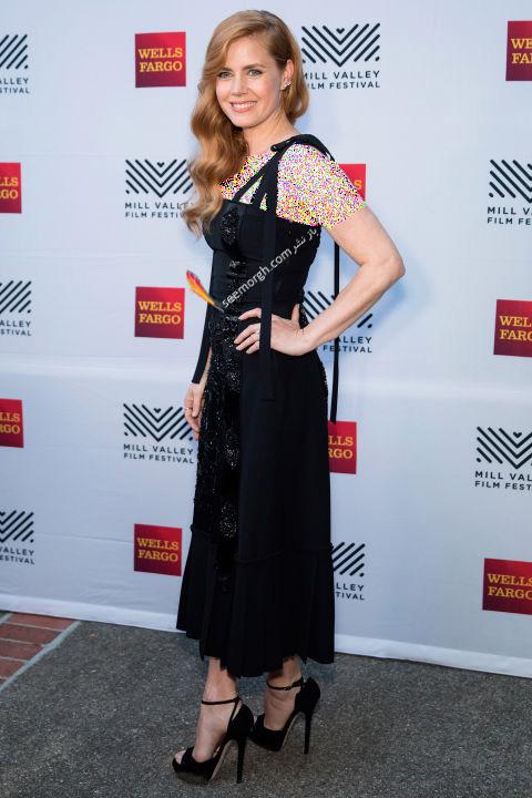 مدل لباس امی آدامز Amy Adams در هفته مد نیویورک