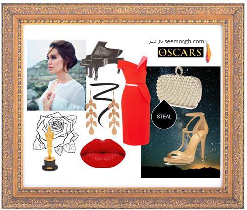 ست کردن لباس شب به سبک انجلینا جولی Angelina Jolie - ست شماره 3