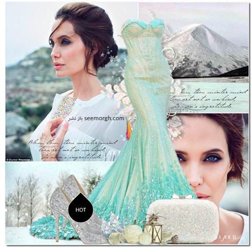 ست کردن لباس شب به سبک انجلینا جولی Angelina Jolie - ست شماره 4
