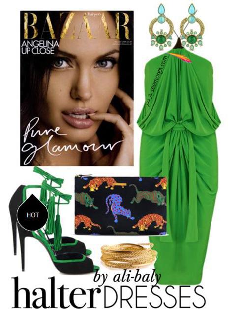 ست کردن لباس شب به سبک انجلینا جولی Angelina Jolie - ست شماره 5