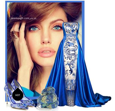ست کردن لباس شب به سبک انجلینا جولی Angelina Jolie - ست شماره 6