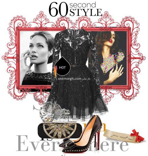 ست کردن لباس شب به سبک انجلینا جولی Angelina Jolie - ست شماره 7
