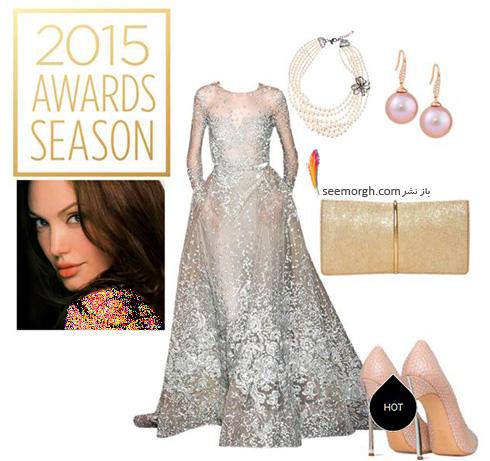 ست کردن لباس شب به سبک انجلینا جولی Angelina Jolie - ست شماره 8