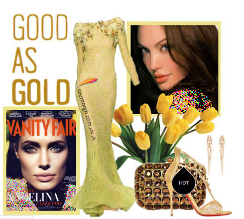 ست کردن لباس شب به سبک انجلینا جولی Angelina Jolie - ست شماره 9