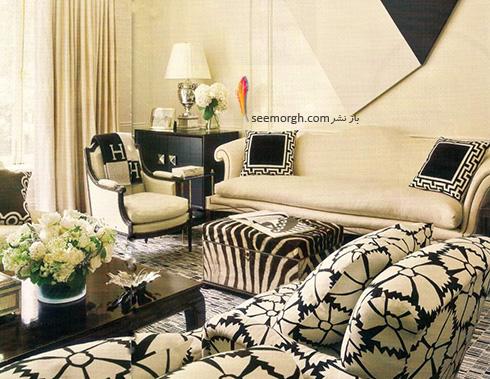 مبلمان مناسب با فرش زمینه مشکی - عکس شماره 1